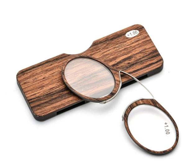 Wooden Stripe SOS Pince Nez Style Nose Resting Pinching Reading Glasses for Old Men Women USA Italy+1.0 +1.5 +2.0 +2.5 +3.0 +3.5-modlily