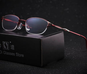 Half Metal Frame Slim Women Reading Glasses Female Anti-fatigue Presbyopic Eyeglasses +1.0 +1.5 +2.0 +2.5 +3.0 +3.5 +4.0-modlily