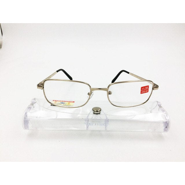 606a1363bbc1e Hot Sell High Quality Metal Frame Reading Glasses Hyperopia Glasses Men  Women Glass Lens Anti Fatigue