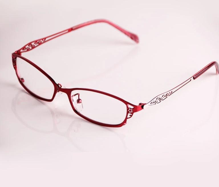 Fashion Women High Quality Alloy Reading Glasses Ultra-thin Anti-scratch Coating Aspherical Lens Diopter+0.25~+4.0 Y1174-modlily