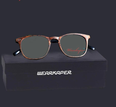 WEARKAPER Resin Wood grain Transition Photochromic Reading Glasses Women Presbyopia diopters Gafas de lectura leesbril