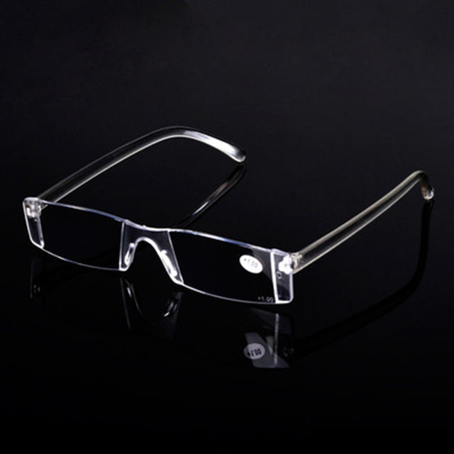 Reading Glasses Men Portable Reading Glasses Frameless Women Rimless Glasses Transparent Magnifier Eyeglasses Lunette Loupe-modlily