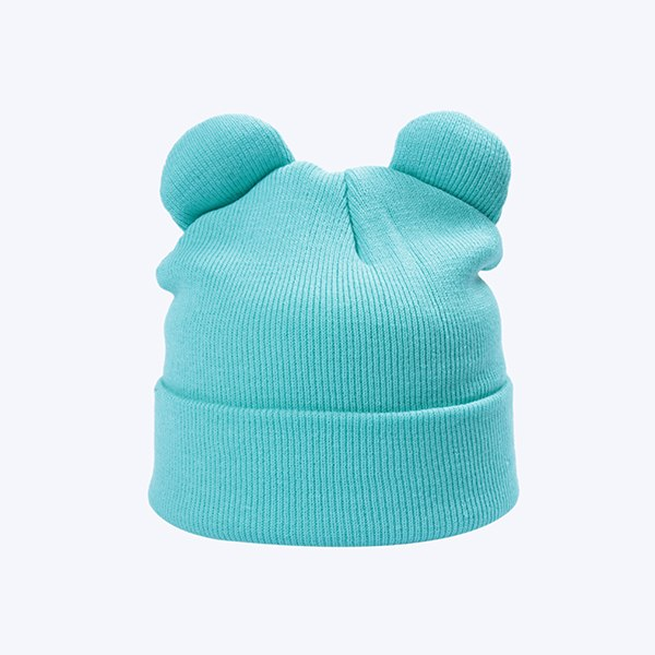 8 Solid Color Winter Knitted Hats For Girls Cap Women's Beanies With Cat Ears Fashion Horn Hat Warm Plain Cute Skullies Bonnet-modlily