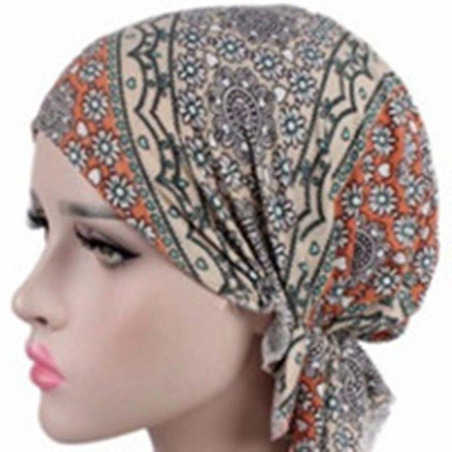 Fashion Design Women Muslim Stretch Turban Hat Chemo Bonnet Hair Loss Cancer Head Scarf Wrap Hijib Cap QDD9339-modlily