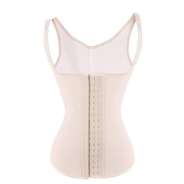 FeelinGirl Latex Waist Trainer Vest 5 Steel Boned Hot Shapers Waist Cincher Weight Loss Body Shaper Slimming Latex Corset -A5-modlily