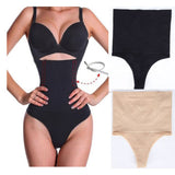 Plus Size Women Body Shaper Control Slim Panties High Waist Black Skin Color Women Panty Briefs Shapewear Underwear-modlily