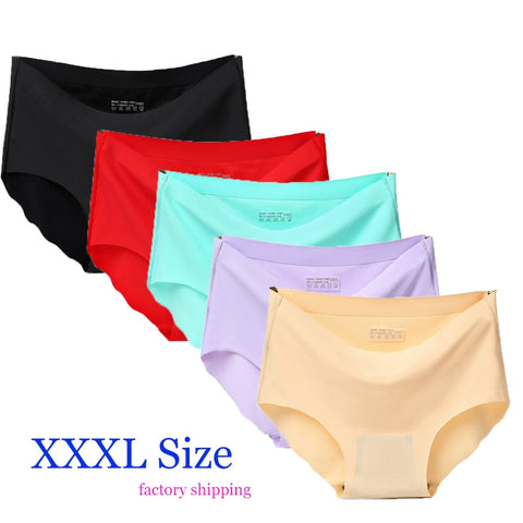 XXXL Women Underwear Solid Sexy Lingerie Panties for Women String Thongs Seamless Panties G-String Briefs Underwear Factory Ship