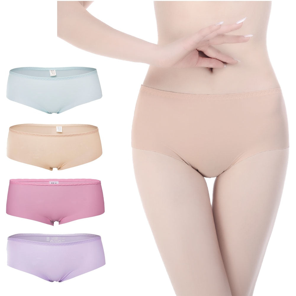 Women's Breathable Lingerie High elasticity Panties Sexy Solid Ladies Girls Mid-Rise Female Underwear Breathable Lining Briefs-modlily