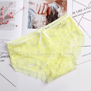 2018 New Panties Women Underwear Girls Lace Briefs Sexy Lingerie Thongs Tangas Transparent Panty Underpant String Shorts Ladies-modlily