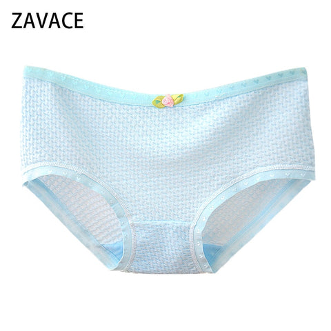 ZAVACE Comfortable soft bubble breathable cotton underwear women candy-colored sexy panties girls panties women's underwear #20