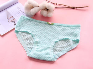 ZAVACE Comfortable soft bubble breathable cotton underwear women candy-colored sexy panties girls panties women's underwear #20-modlily