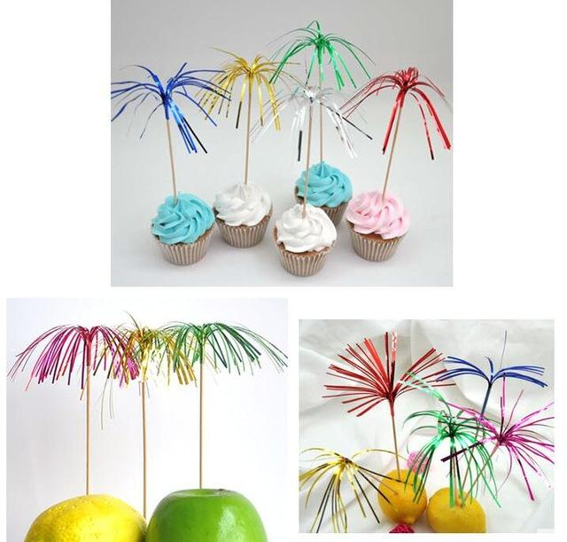 100pcs Disposable Cocktail Sticks Drink Fruit Dessert fruit toothpick Canapes Decor Picks Ornament fork party supplies-modlily