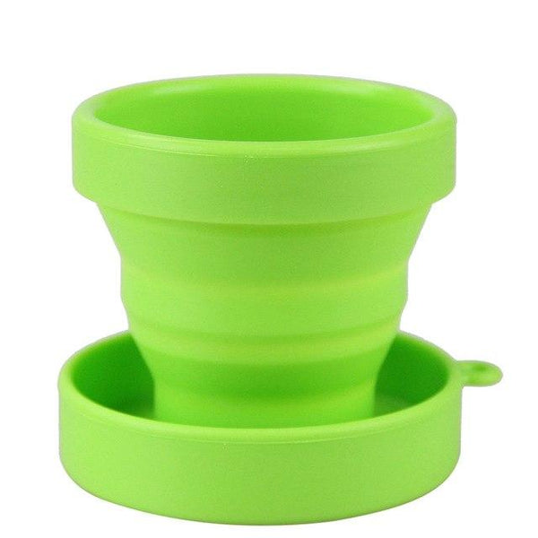 1 Pcs Outdoor Travel Collapsible Silicone Cup Folding Water cups for Travel Camping School Yellow