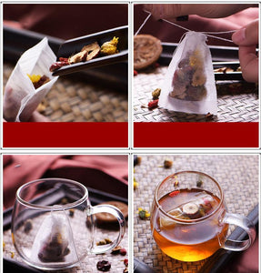 100Pcs/Lot Mew Teabags 5.5 x 7CM Empty Scented Tea Bags With String Heal Seal Filter Paper for Herb Loose Tea Bolsas de te-modlily