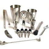 13 PCS 600ml 750ml Stainless Steel Wine Cocktail Making Set Cocktail Shaker Jigger Mixing Spoon Barware Bartender for Bars-modlily