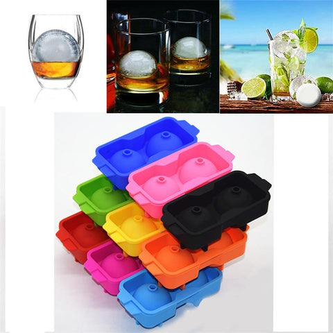 Zero 2017 Ice Balls Maker Round Sphere Tray Mold Cube Whiskey Ball Cocktails Silicone Hot sale Purchasing B7719-modlily