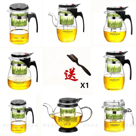 [GRANDNESS] Various Kamjove Glass Kungfu Teapot PiaoYi Bei Convenient Teacup Kungfu Tea Set Press AUTO-OPEN Art Tea Cup