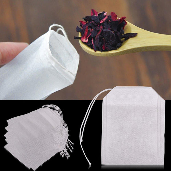 100Pcs/Lot Teabags 5.5 x 7CM Empty Scented Tea Bags With String Heal Seal Filter Paper for Herb Loose Tea Bag Tools Drop shiping-modlily