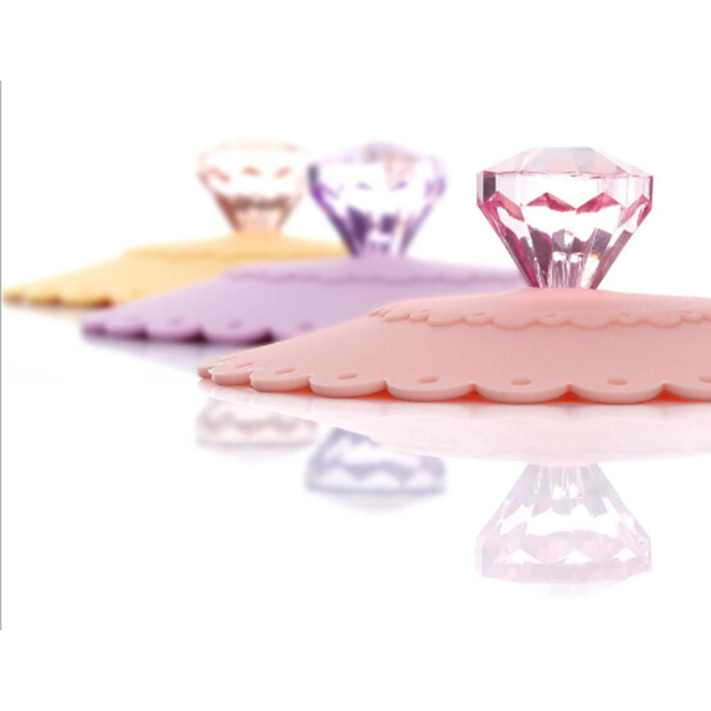 1 pcs Cup Lid Cover Lace Silicone Diamond Cup Lid Thermal Insulation Cup Cover Dustproof leakage-proof Reusable Cup Lid E5M1-modlily