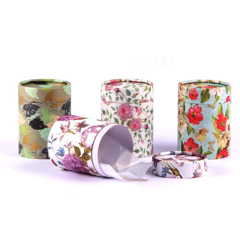 Xin Jia Yi Packaging Round Craft Paper Tea Box Flowers Cylinder Coffee Powder Caddy Packaging Fancy Cardboard Paper Tube-modlily