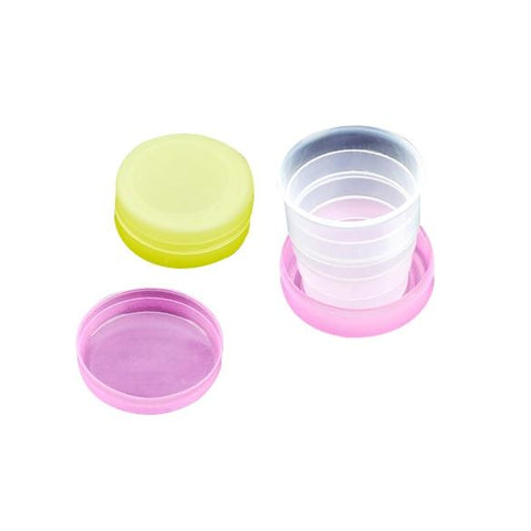 Wholesale Folding Portable Collapsible Plastic Cups Telescopic Cups Camping Hiking Drinkware HG99-modlily