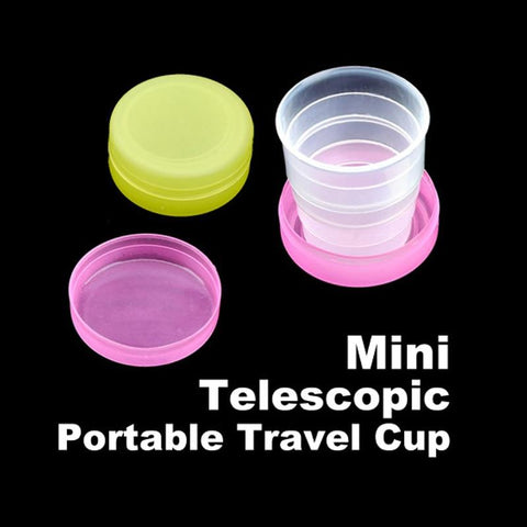 Wholesale Folding Portable Collapsible Plastic Cups Telescopic Cups Camping Hiking Drinkware XH8Z-modlily