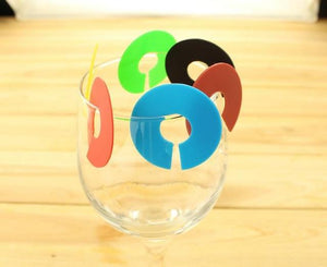 12 pcs/lot Wine Glass Recognizer Party Dedicated Strip Silicone Label Rubber Wine Glasses Marker Wine Accessories WYQ-modlily