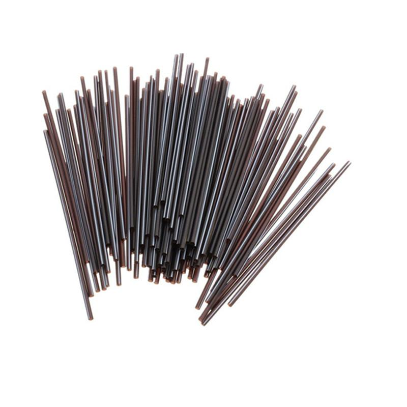 100pcs/set Soft Drink Plastic Straw Plastic Mini Cocktail Straws for Celebration Drinks Party Supplies Tool Black 130mm-modlily