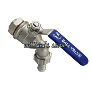 1/2 Homebrew Hose Tape Ball Valve Working Pressure 200PSI Homebrew Faucet Tap with Install Screw and Silicon 304 Stainless Steel-modlily