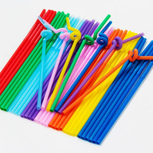 100Pcs DIY Disposable Wine Straws Bendable Double Elbow Party Plastic Straw Juice Drinking Tube Disposable Straws-modlily