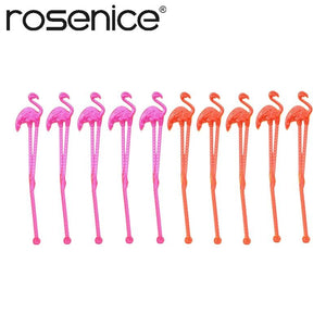 10pcs Flamingo Plastic Drink Stir Swizzle Sticks Frozen Drink Cocktail Bar Stirrer Decoration-modlily