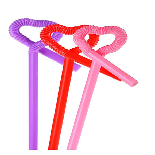 100Pcs/Lot Colorful Straw Crazy Curly Loop Multicolour Flexible Plastic Drinking Straws Wedding Birthday Party Supplies-modlily