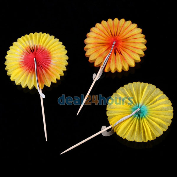 100pcs Colorful Peacock Sticks Cocktail Drink Fruit Cake Picks Party Food Decoration Free Shipping-modlily