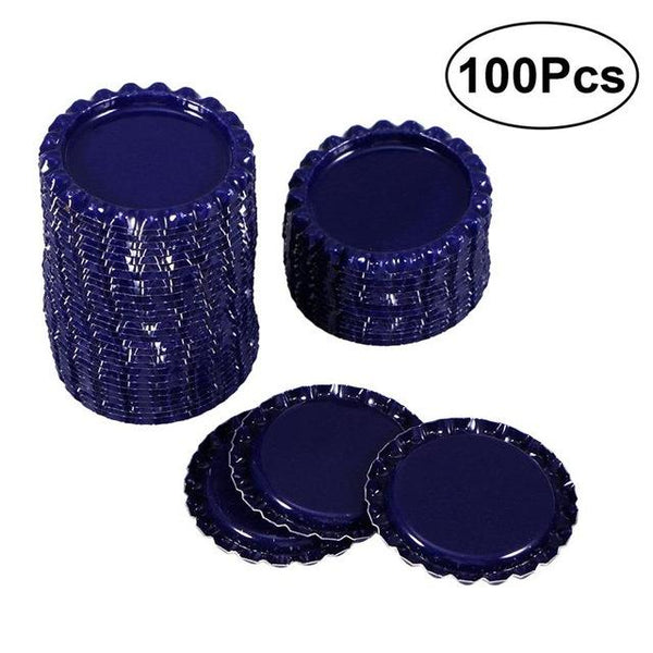 100pcs Beer Bottle Crown Caps Flat Bottle Cap Oxygen Absorbing Beer Cap for Homebrew Wholesale Free Shipping-modlily