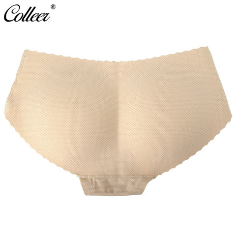 [COLLEER] Sexy Padded Ass Underwear Women Panties Low Waist Seamless Calcinha Abundant Buttocks Pants Soft Panties Female Briefs-modlily