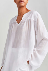 Adelaide Cotton Shirt - White