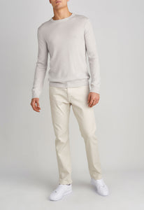 Beckham Cashmere Sweater - Pale Grey