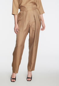 Cilla Silk Pant - Trench