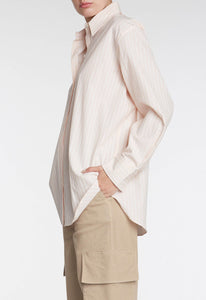 Elle Shirt - Mock Orange/White