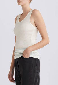 Hill Merino Tank - Cream