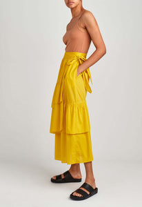 Iku Cotton Skirt - Canary
