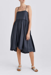 Kiah Silk Dress - Pine