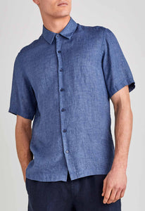 Lake Linen Shirt - Mid Marine