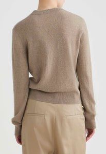 Peter Cashmere Sweater - Natural Marle