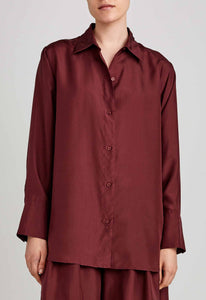 Logan Silk Shirt - Dark Plum