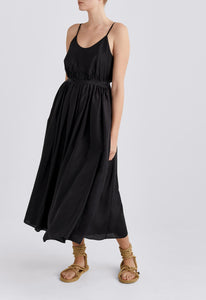 Luvis Silk Dress - Black