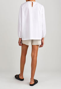 Madeline Cotton Shirt - White