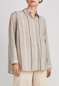 Marly Shirt - Tin Green/Pepa Stripe