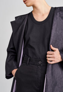 Morgan Coat - Black/Bon Bon
