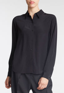 Opal Silk Shirt - Black